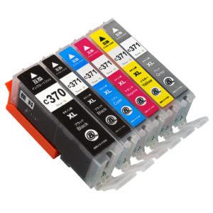 BCI-371+370 / 顔料BK互換インクカートリッジ