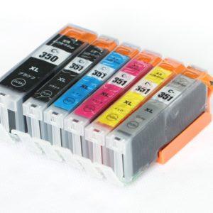BCI-351+350 / 顔料BK互換インクカートリッジ
