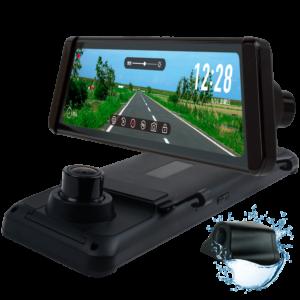 JADO SMART ドライブレコーダー ミラー型タッチパネル操作式 カメラレンズ一体タイプ